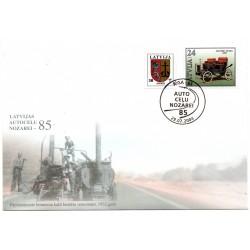 Latvian First Day Cover - Auto Celu nozarei - 85