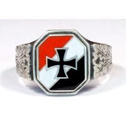WW1-WW2 German Patriotic silver ring