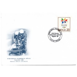 Latvian First Day Cover - Nagano1998