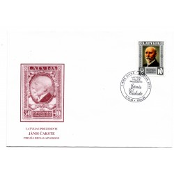 Latvian First Day Cover - Jānis Cakste