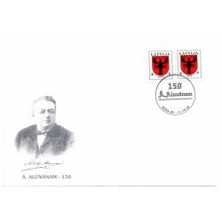 Latvian First Day Cover - Ā.Alunānam 150