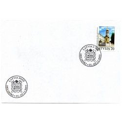 Latvian  Cover  with the first day stamps Helsinki