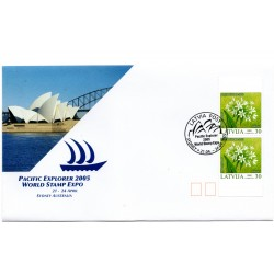 Cover  with the first day stamps Sydney 2005