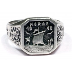 WWII NORGE 1940 5th Norwegian Wiking Division ring