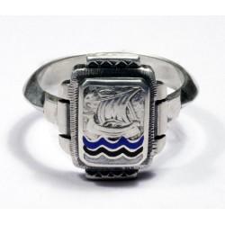 German Silver Estonian Volunteer Ring