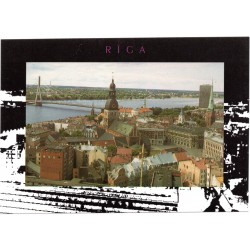 Riga postcards- the view from St.Peter Church to the old Riga