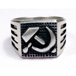 WWII Soviet Red Army Officer`s ring