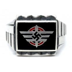 WW2 German Deutsche Reichsbahn silver ring
