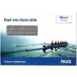 Latvian Phone Bill Envelope ( TELE 2)