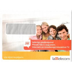 Latvian Phone Bill Envelope (Lattelecom)
