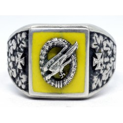 WW2 Luftwaffe Paratroopers silver ring