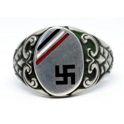 German WWII Patriotic Silver Ring