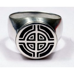 Celtic Cross ring from sterling silver