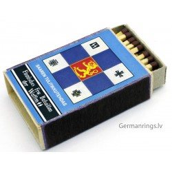 Vintage GERMAN ww2 matchbox – Finnisches Fir.Bataillon der Waffen SS