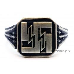WW 2 WAFFEN Silver RING