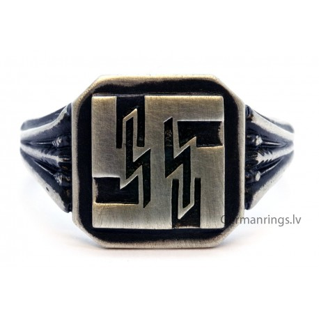 WW 2 NAZI WAFFEN SS Silver RING