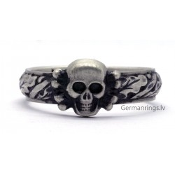German WW2 Silver SS TOTENKOPF Ring