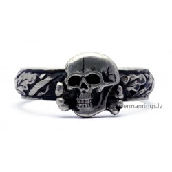 German WW2 Sterling Silver SS TOTENKOPF Ring