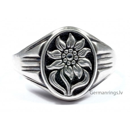 WWII GERMAN ALPEN DIVISION SILVER RING