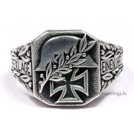 WW II German Ring with helmet