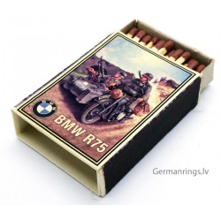 Vintage Full German Propaganda Matchbox - BMW R75