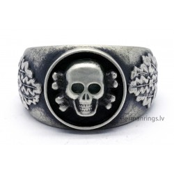 WWII German silver skull ring
