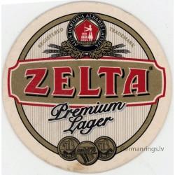 Latvian beer coaster ZELTA