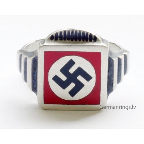 NSDAP sterling silver ring.