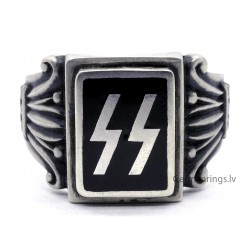 German WW2 waffen SS Unit Sterling silver ring