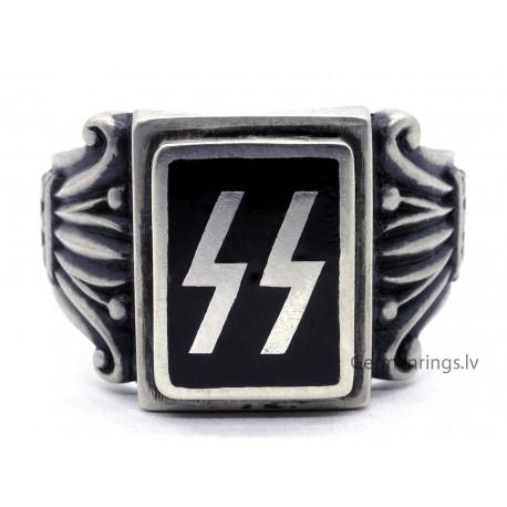 German WW2 waffen SS Unit Sterling silver ring
