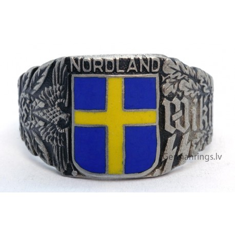 Wiking SS division NORDLAND - Swedish signet ring