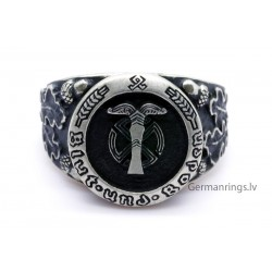 WW2 German Ahnenerbe ring with moto Blood and soil (German: Blut und Boden)
