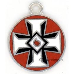 KKK , Ku Klux Klan Member Sterling Silver pendant