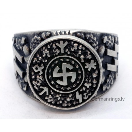 GERMAN WW2 WAFFEN-SS ring with runes