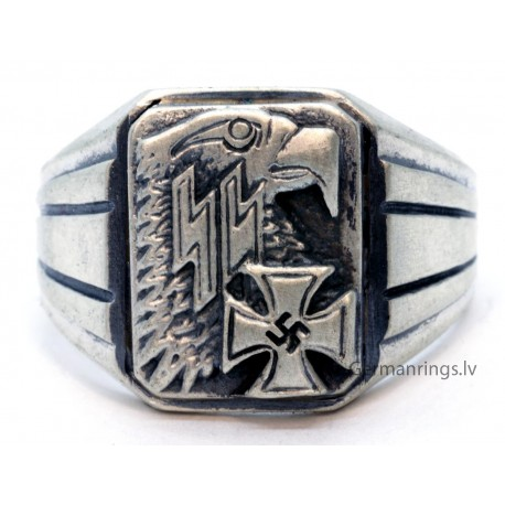 GERMAN WWII NAZI WAFFEN SS OFFICERS EAGLE RING