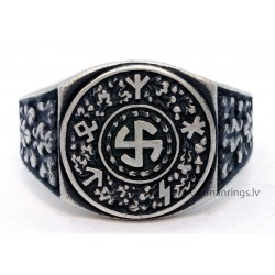 German WW2 Waffen - SS ring with runes