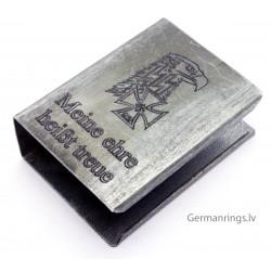 """WW2 GERMAN MATCH BOX HOLDER with logo """"meine ehre heißt treue"""""""