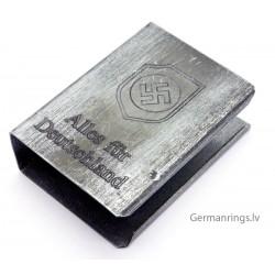 """WW2 GERMAN MATCH BOX HOLDER with logo """"Alles fur Deutschland"""""""