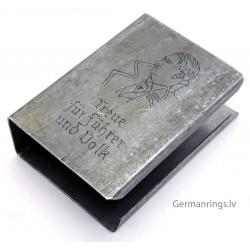 """WW2 MATCH BOX HOLDER with logo """"Treue fur fuhrer und Volk"""" for sale"""