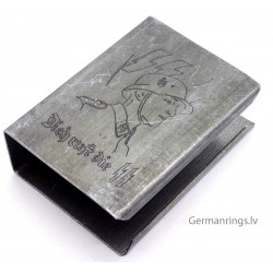 GERMAN WW2 PROPAGANDA MATCH BOX HOLDER