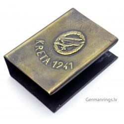 "GERMAN WWII PROPAGANDA ""KRETA 1941"" MATCHBOX HOLDER"