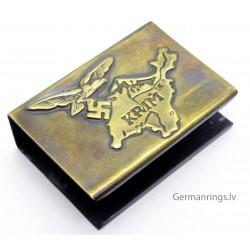 GERMAN WWII PROPAGANDA MATCHBOX HOLDER