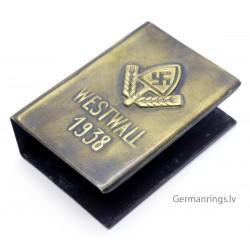"""German WW2 """"WESTWALL 1938"""" Propaganda Matchbox holder"""