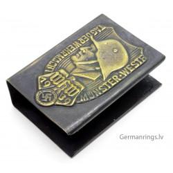 WWII GERMAN THIRD REICH HAUSHALTZWARE MATCH BOX