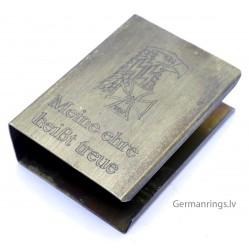 """Waffen SS Propaganda Matchbox holder With logo """"Meine Ehre Heisst Treue"""""""