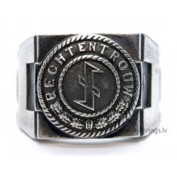 RECHT EN TROUW - German WW2 Silver Ring