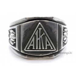 American KKK AKIA (KU KLUX KLAN) Silver Ring