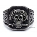 Sterling Silver Skull with Sword Ring
