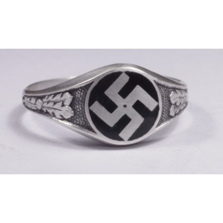 NSDAP sterling silver ring.