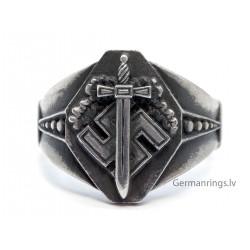 WW2 German Veteran silver ring